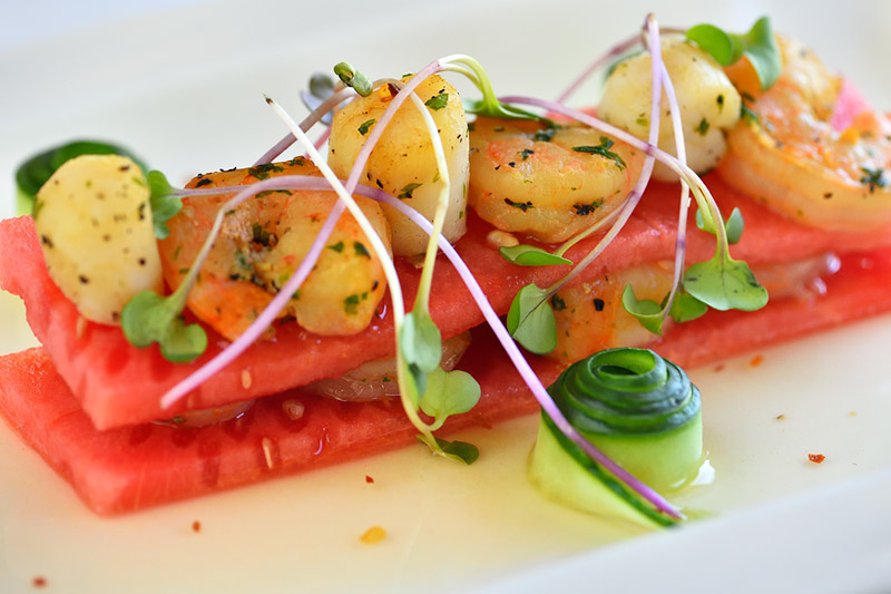 Watermelon and Scallops